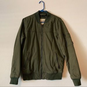 Men's Hollister Green Bomber Jacket